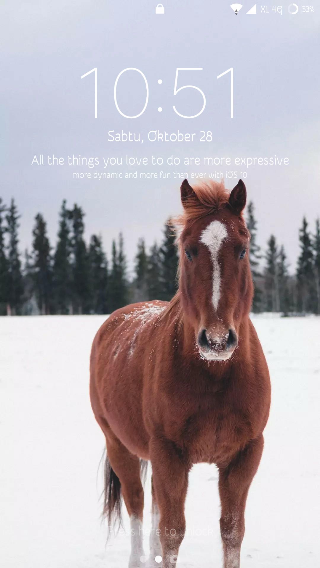 Simple Wallpaper Horse Android Phone - screenshot_2017-10-28-10-51-32-015_lockscreen590722375  Pic_764895.png
